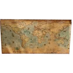 Poster Mapa Mundial Vintage...