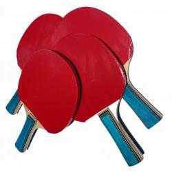 Kit 4 Raquetas De Ping Pong...